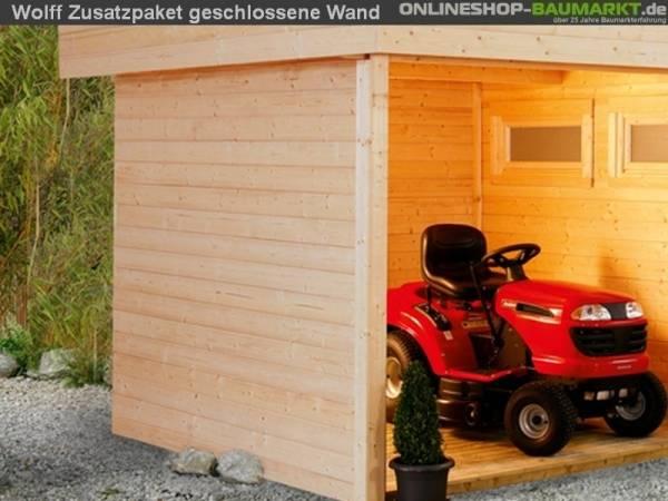 Wolff Finnhaus Zusatzpaket geschlossene Wand für Nina