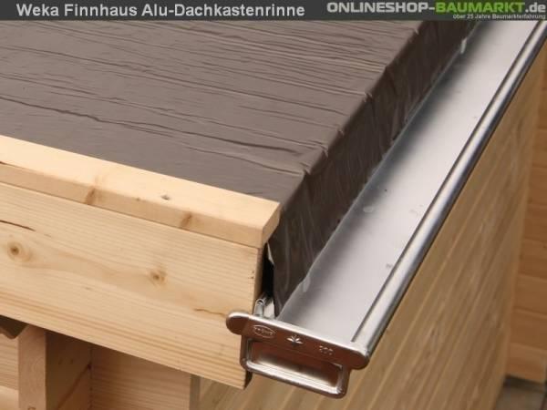 Wolff Finnhaus Alu-Kastendachrinne für Flachdach bis 600 cm mit 1 Fallrohr