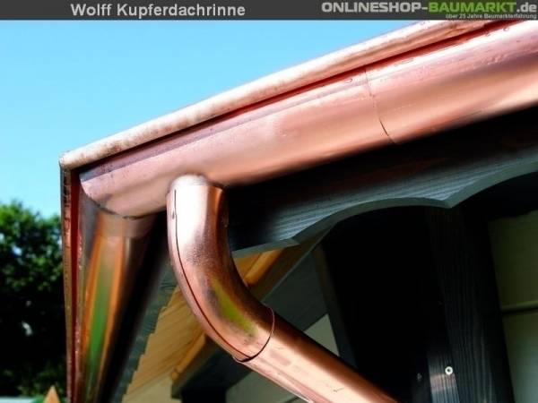 Wolff Pavillion-Dachrinne 2 Fallrohren