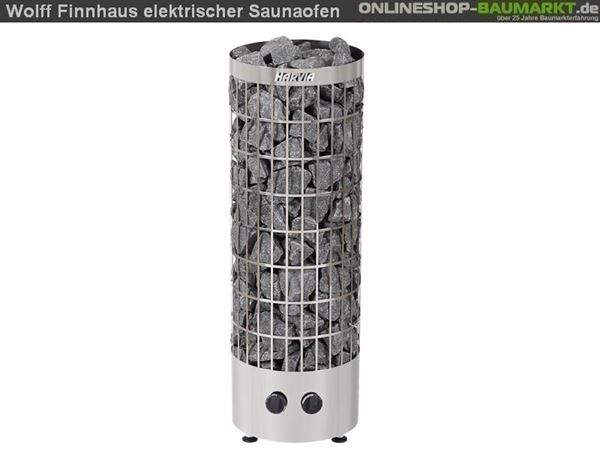 Wolff Finnhaus Saunaofen 9 KW für Saunafass, montiert