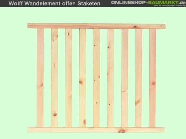 Wolff Finnhaus Wandelement Staketen Kreta 8 XL