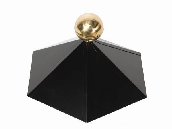 Wolff Finnhaus Dachhaube 6-eckig Messing